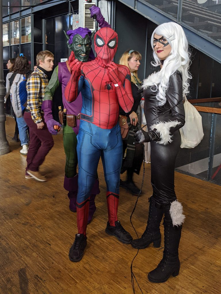 Cosplay Bouffon Vert Spider-Man Black Cat Comic Con Paris 2019