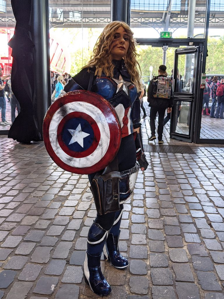 Cosplay Captain America Femme Comic Con Paris 2019