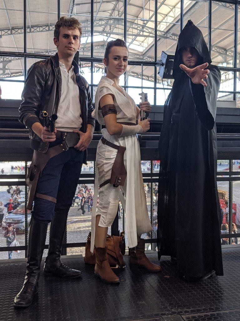 Cosplay Han Solo Rey Palpatine Comic Con Paris 2019