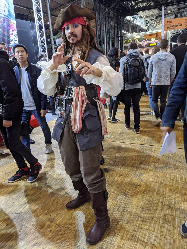 Cosplay Jack Sparrow Comic Con Paris 2019