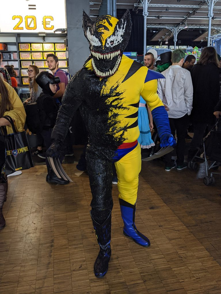 Cosplay Venom Wolverine Comic Con Paris 2019